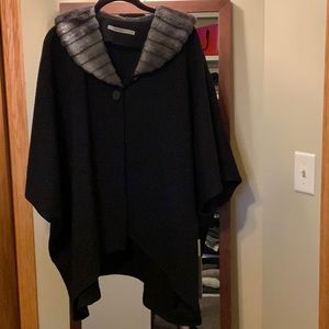 Cape made by Beau Jours. Black.